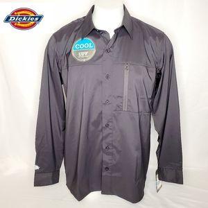 Dickies Men's Zip Pocket Button Down Shirt